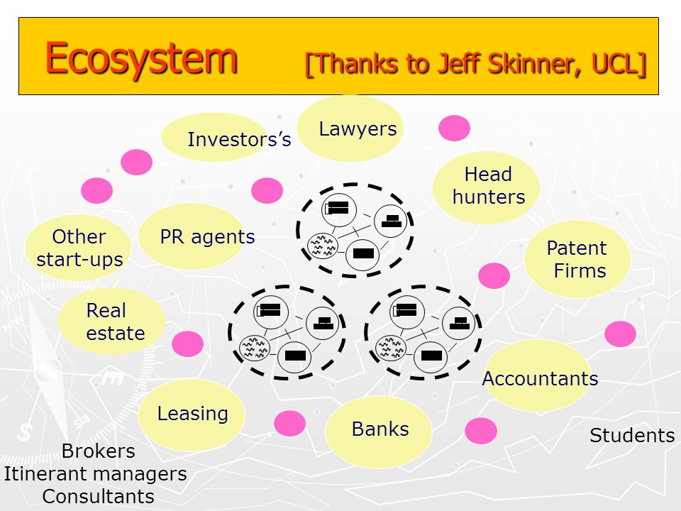 Ecosystem [Thanks to Jeff Skinner, UCL]